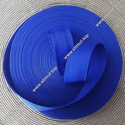 Тесьма цветная 25 мм (бухта 50 м) ЭЛЕКТРИК / Стропа сумочная ременная / Лента для рюкзаков / Стрічка ремінна, фото 2