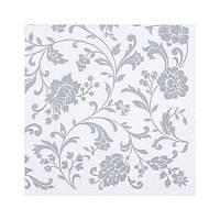 Салфетки декупажные Jet Papier GmbH Орнамент цветы серебро 33x33 см 17.5 г/м2 20 шт ti-flair 4103070