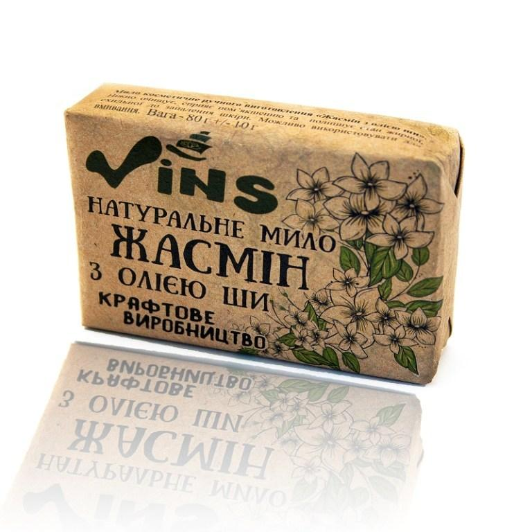 Мыло жасминовое с маслом Ши, Vins 80 г