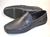 Мокасины кожаные мужская обувь большой размер ETHEREAL BS Classic Black by Rosso Avangard черные