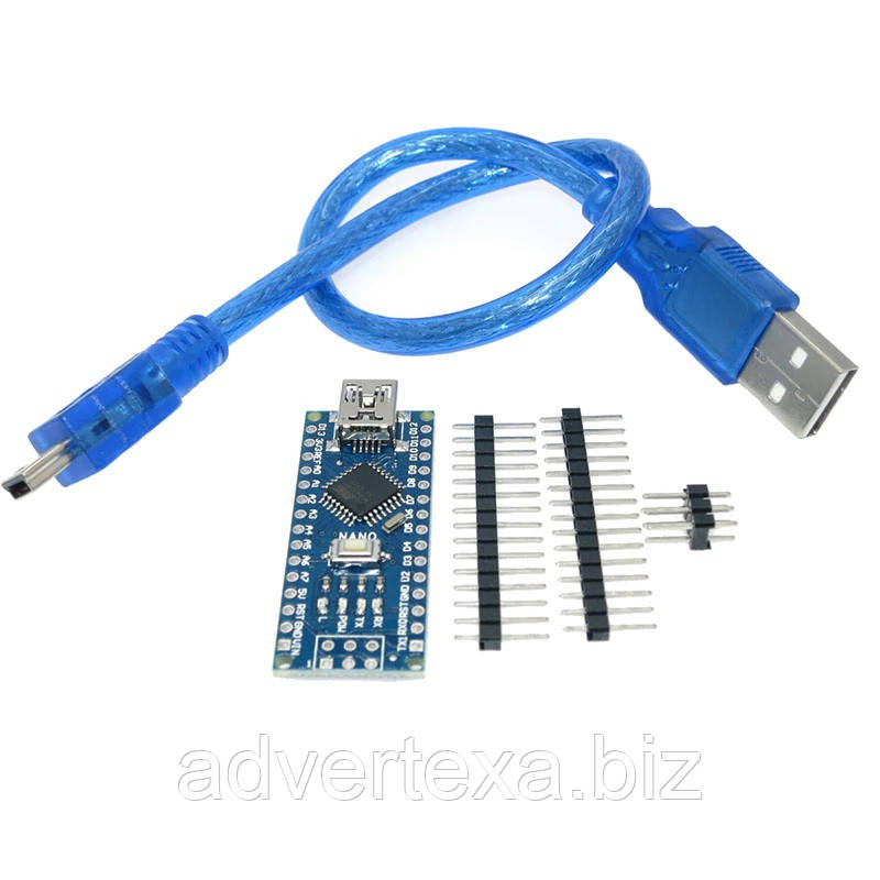 Arduino Nano V3.0 (ATmega328/ch340g - MiniUsb - UART) 5 В. 16 мГц. с USB кабелем