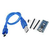 Arduino Nano V3.0 (ATmega328/ch340g - MiniUsb - UART) 5 В. 16 мГц. с USB кабелем, фото 2