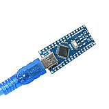 Arduino Nano V3.0 (ATmega328/ch340g - MiniUsb - UART) 5 В. 16 мГц. с USB кабелем, фото 3