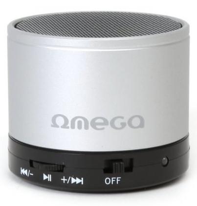 Портативная колонка Omega Bluetooth OG47S серебристая