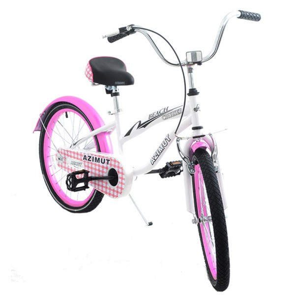 Велосипед 2-х кол. Azimut Beach 20'' розовый с корзинкой
