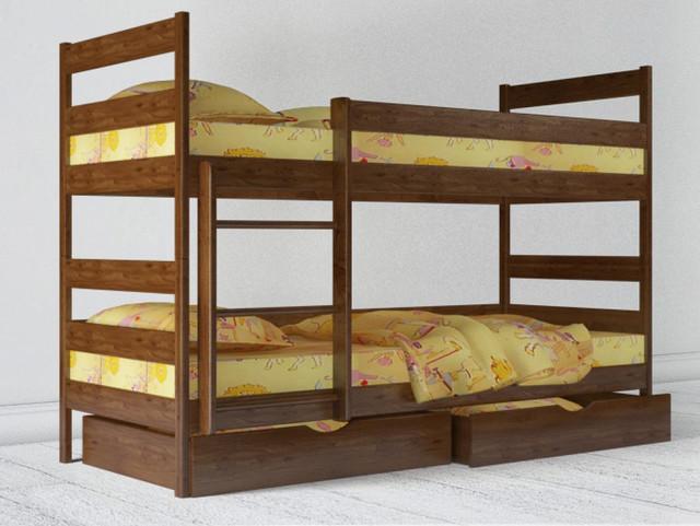 Кровать двухъярусная Ясная светлый орех Бук (Массив).