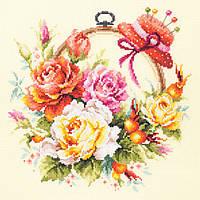 Набор для вышивания крестом Чудесная игла 100-122 Розы для мастерицы