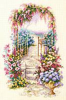 Набор для вышивания крестом Чудесная игла 110-001 Садовая калитка