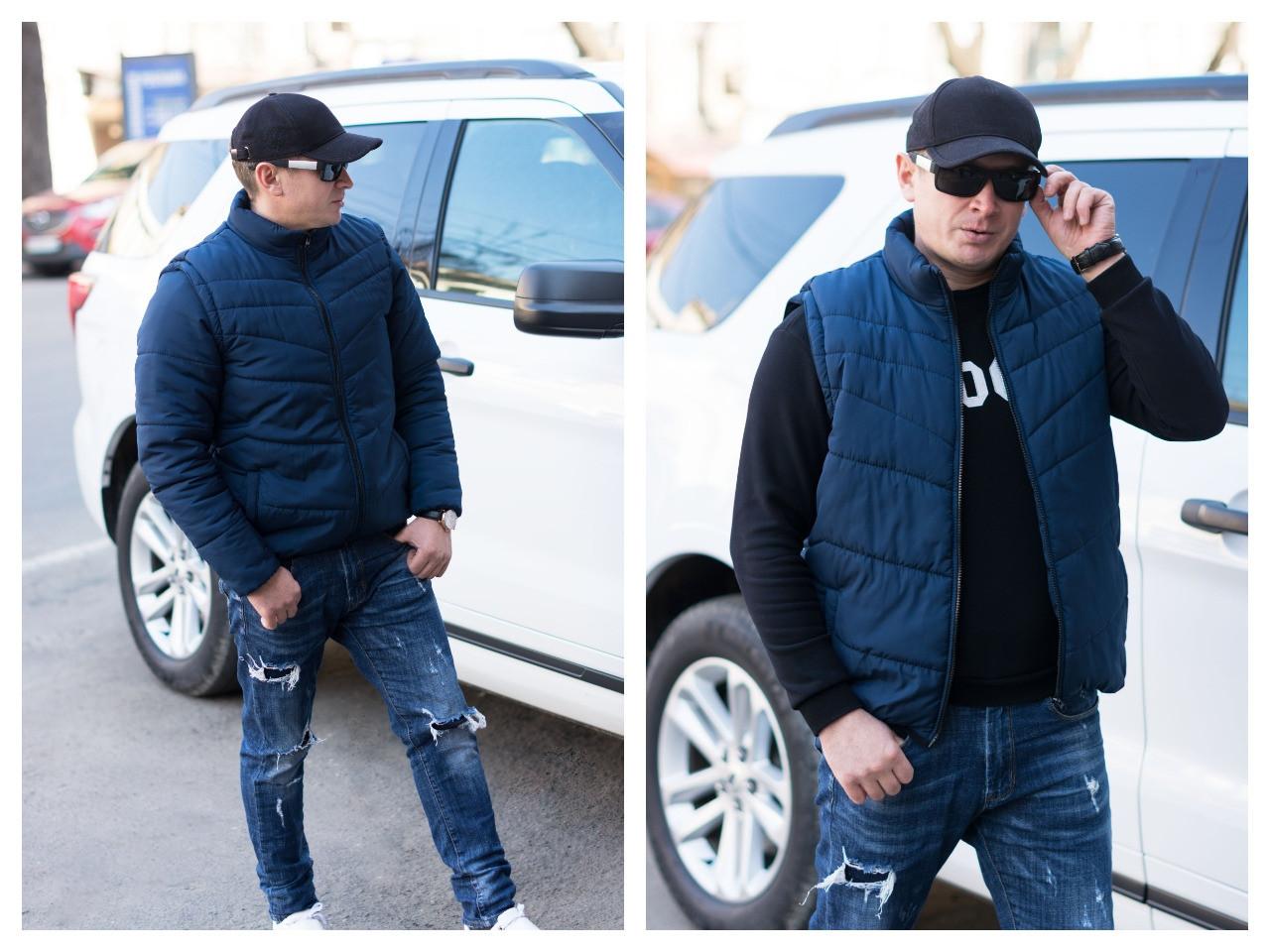 Мужская демисезонная куртка-жилет