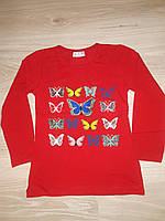 Кофточка для девочки с бабочками