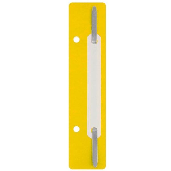Минискоросшиватель Economix (20 шт), желтый E31512-05