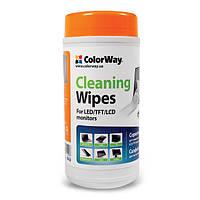 Салфетки ColorWay для очистки ноутбуков, мониторов 100шт. (CW-1071)