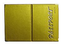 Обложка Античное золото для загран паспорта из кожзаменителя