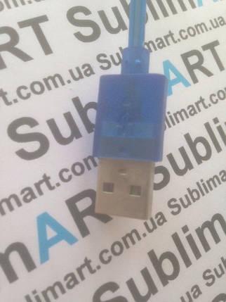 Usb кабель портативный на пружине для iPhone, iPod, iPad 30 pin (синий), фото 2