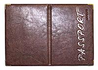 Обкладинка Махагон для закордонного паспорта з шкірозамінника
