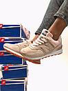 Женские кроссовки New Balance 574 бежевые с розовым, фото 6