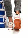 Женские кроссовки New Balance 574 бежевые с розовым, фото 7
