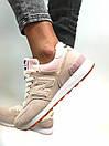 Женские кроссовки New Balance 574 бежевые с розовым, фото 8