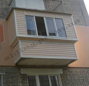 Обшити балкон сайдингом пластиковийм вініловим, сайдинг пісочний ціна