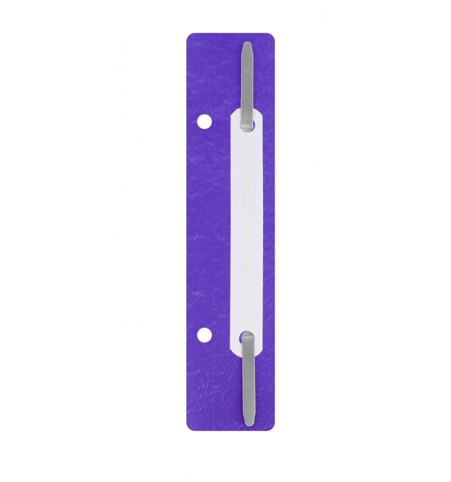 Минискоросшиватель Economix фиолетовый 20шт E31512-12