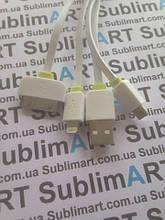 Usb кабель универсальный 3в1 (бело-салатовый)