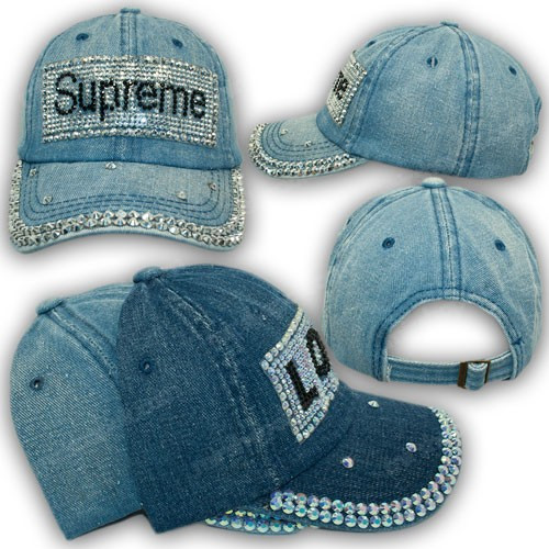 Джинсовая кепка для девочки Supreme