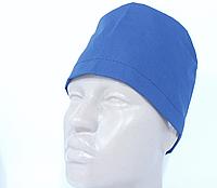 Медицинская шапочка синяя хлопок