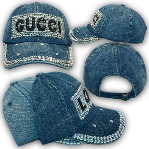 Джинсовая кепка для девочки Gucci