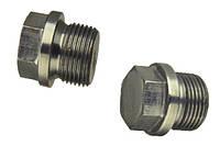 Пробка (заглушка) для труб резьбовая цилиндрическая с фланцем и внешним шестигранником DIN 910 от М10 - М30