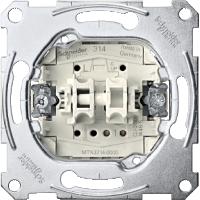 Механизм выключателя для жалюзи с дополнительным контактом Shneider Merten (MTN3714-0000)