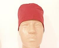 Медицинская шапочка бордовая хлопок