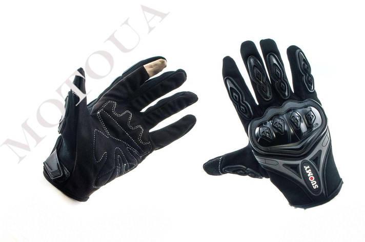 Рукавиці (Перчатки) SUOMY (size: M,чорно-грифельні), фото 2