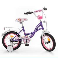 Велосипед Profi Bloom 16 дюймов фиолетовый, фото 1