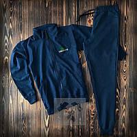 Спортивный костюм Lacoste синего цвета (люкс копия)