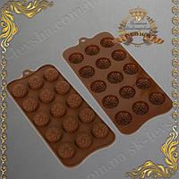 Форма силиконовая для конфет Цветочная 15 в 1