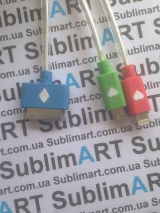 Usb кабель универсальный 3в1 с подсветкой, фото 2