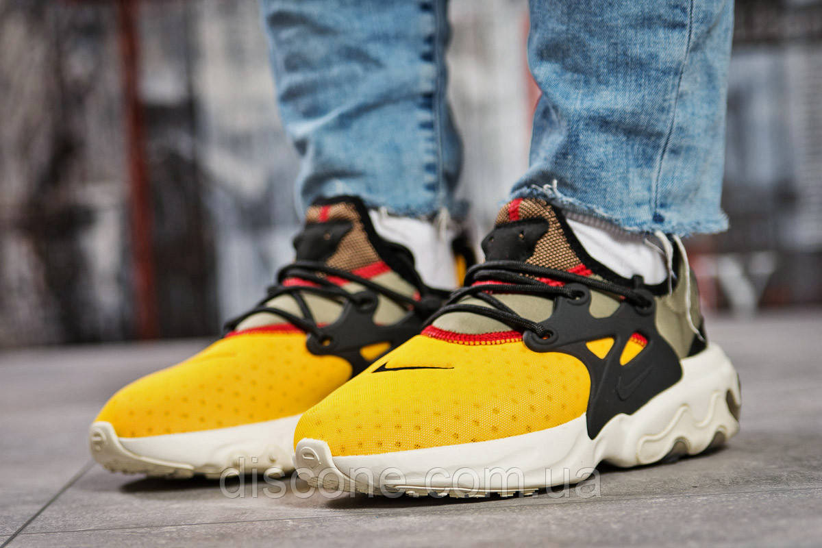 Кроссовки женские ► Nike React,  желтые (Код: 15441) ► [  37 41  ] ✅Скидка 39%