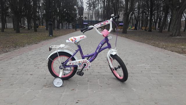 Велосипед для девочки Prof1 Bloom 16 violet купить в Киеве, цена в Украине   alisa-ua