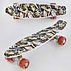 Скейт Пенни Борд Best Board F 3270 со светящимися колесами, фото 3
