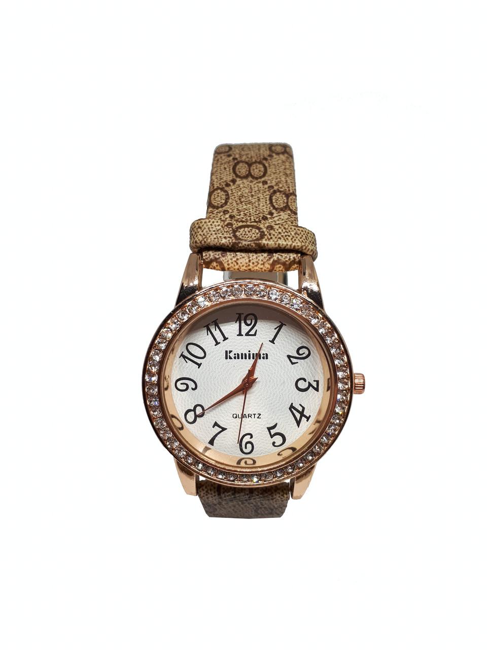 Часы женские  кварцевые  Kanima Glossy Золотистый
