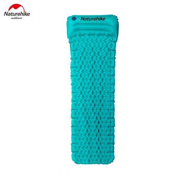 Матрас надувной с подушкой Nature Hike ULTRALIGH TPU 185x54x3см. Вес 460гр, синий