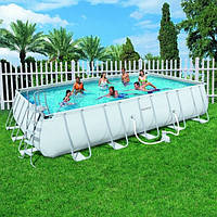 Каркасный бассейн Bestway 56257 (6,7х4х1х3: прямоугольный, песочный фильтр)