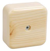 Коробка КМ41216-05 расп. для о/п 75х75х28мм дуб (с конт.гр)