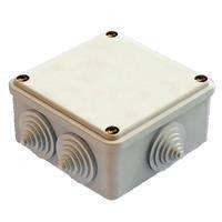 Коробка КМ41219 распаячная для о/п 100х100х29мм бел. (с конт.гр)