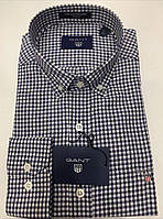 Рубашка мужская Gant D6637 сине-белая