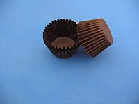 Тарталетки (капсулы) бумажные для кексов, капкейков Коричневые 30*24 мм