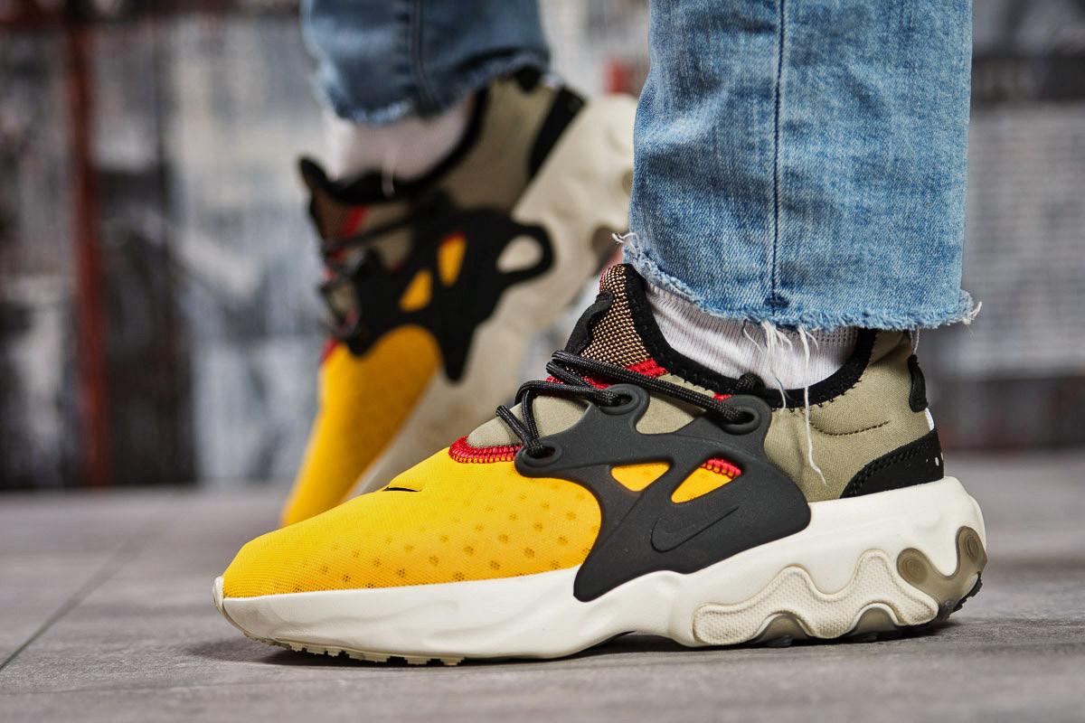 Кроссовки женские 15441, Nike React, желтые ( 37 41  )
