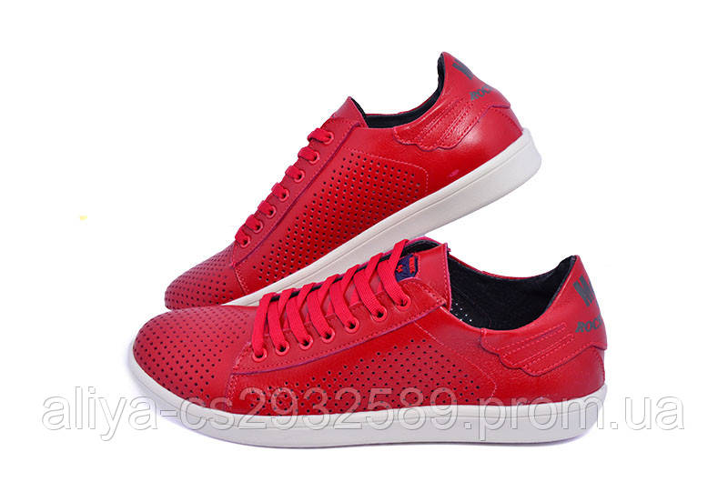 Мокасины Multi-Shoes Perforation Rich 9711 Red