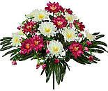 Букет хризантема на папоротнике, 42см  (8 шт в уп), фото 3