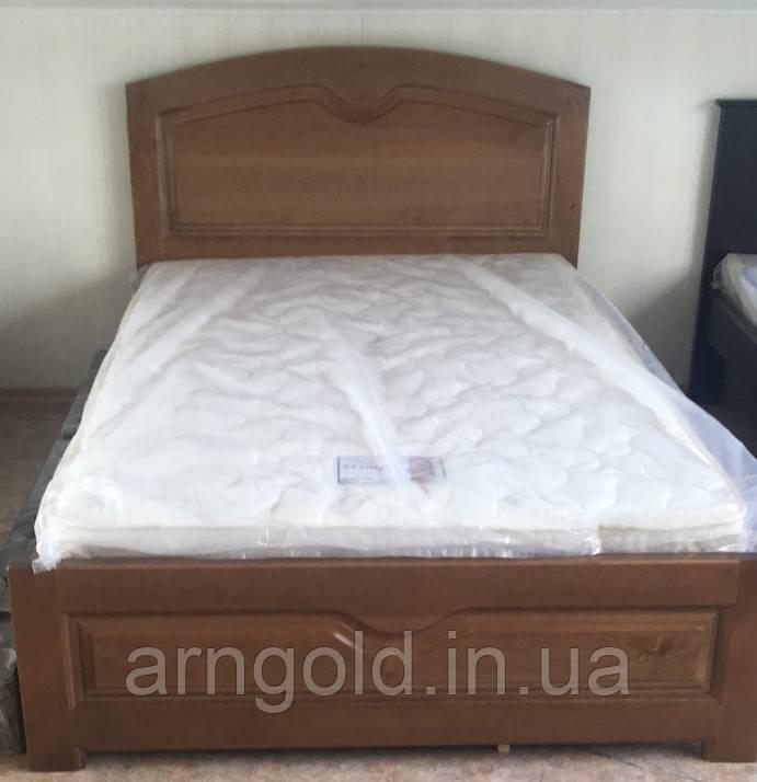 Кровать деревянная Орех Arngold 120х200